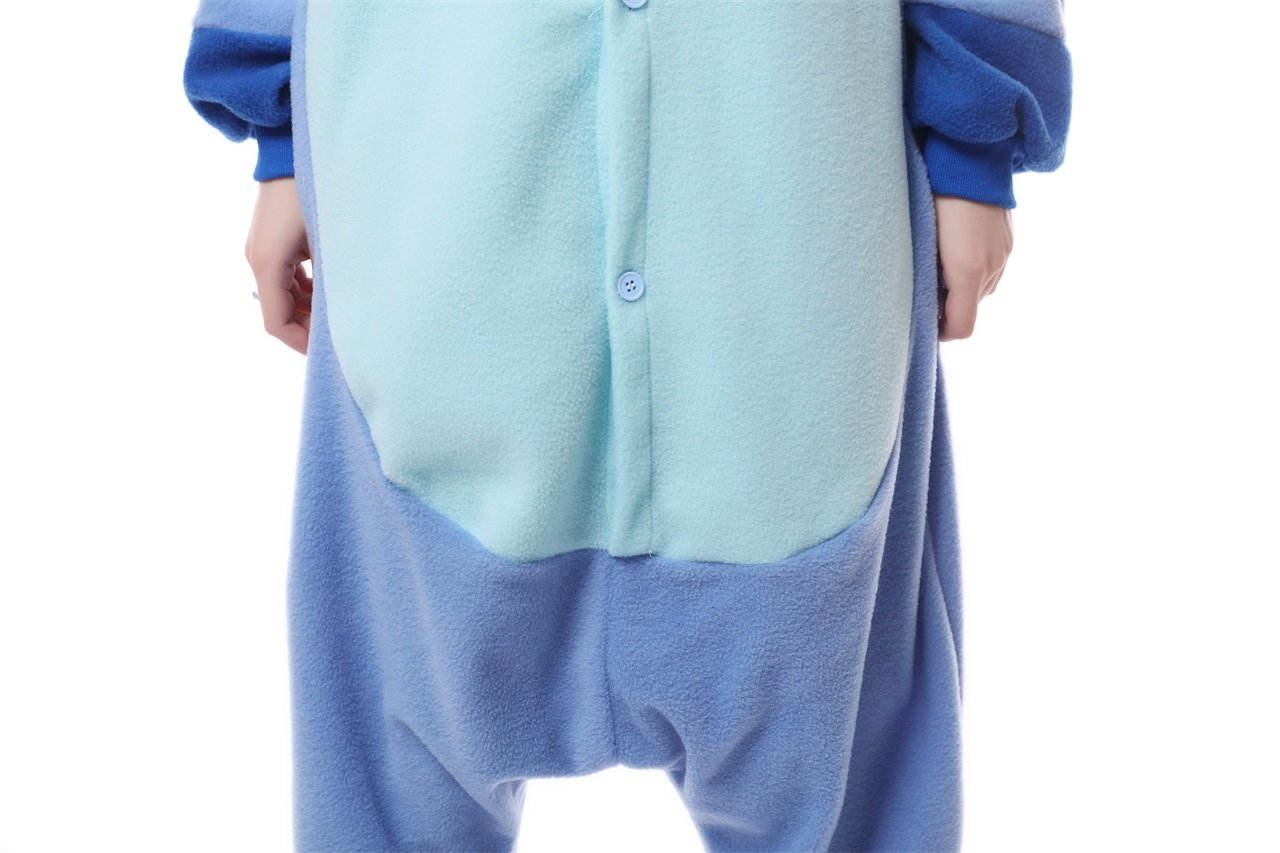 MEILIS Cartoon Sleepsuit Costume Cosplay Lounge Wear Kigurumi Onesie Pajamas Stitch,Birthday or Christmas Gift,Blue by MEILIS (Image #9)