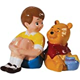 Westland Giftware Magnetic Ceramic Disney Christopher Robin and Pooh Salt and Pepper Shaker Set, 3.75-Inch
