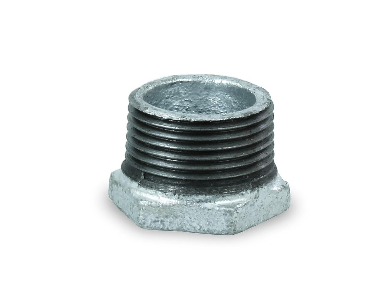 Everflow Supplies GMBU0120 1//2 x 1//8 Black Malleable Iron Bushing Fitting with Hexagonal Head