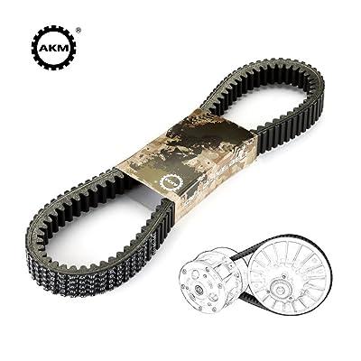Drive Belt fit Can-am 715000302 420280360 715900030 715900212,AKM Double Notch Heavy Duty Carbon Cord Drive CVT Belt fit Outlander Commander Maverick: Automotive