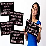 Ridiculously Funny Party Mugshot Signs - Perfect for Photo Booth Props and Accessories, Girls Night Out, Birthday, Bachelorette Party Supplies and Wedding – 20 Signs by Venenas