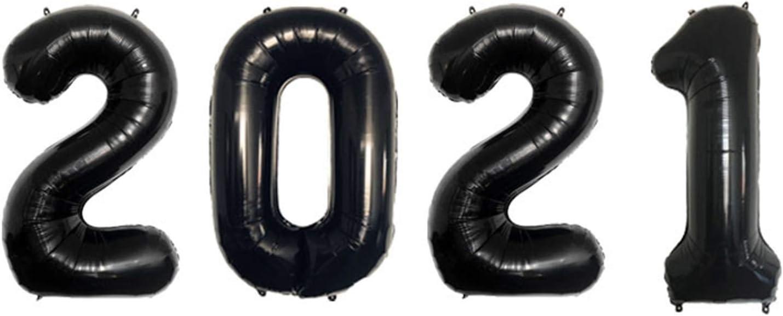 Globos de cumpleaños Foil 2021 Número Globos Navidad2021 Figura Globo de helio Feliz Año Nuevo 2021 del ornamento Decoración de Navidad 40