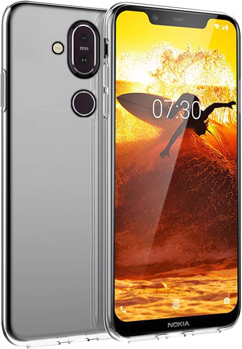 BasicStock Funda Nokia 8.1 Nokia 7.1 Plus, Ultra Delgada Slim ...