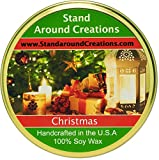 Premium 100% Soy Tureen Candle - 11 oz. Christmas - Orange spice notes from the kitchen, fir w/pine notes from the Christmas tree. Made w/ natural orange, cinnamon, and pine essential oils.