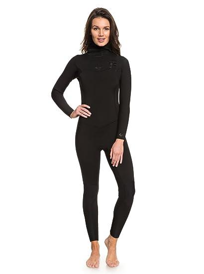 b51ec9d25e Amazon.com: Roxy Womens 5/4/3Mm Syncro Series Hooded Chest Zip GBS ...