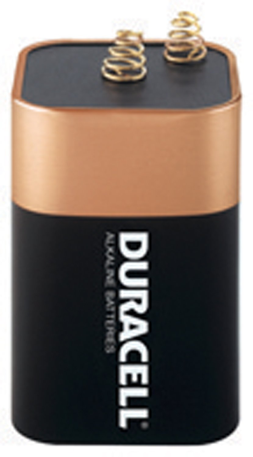 Duracell MN908 6V Non-Rechargeable Alkaline Lantern Batteries (1 Pack) by Duracell