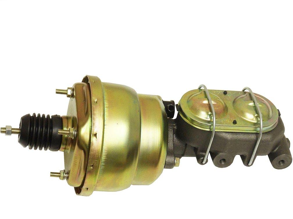 Universal 7 Dual Diaphragm Zinc Brake Booster /& GM Corvette Style Cast Iron Master Cylinder