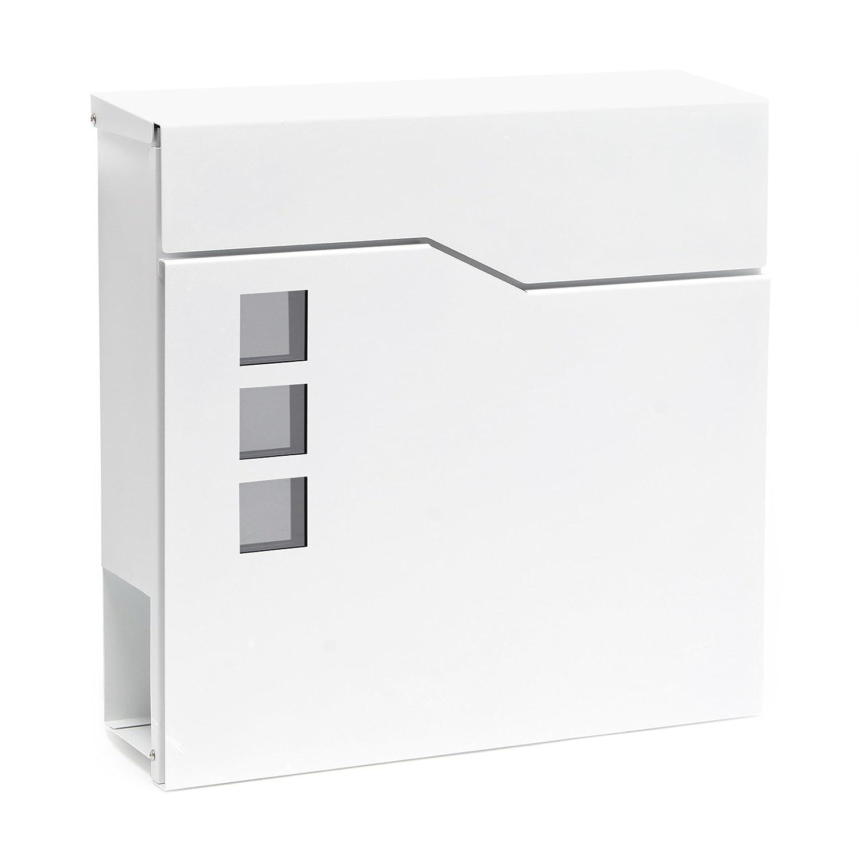 Cassetta postale di design V20 vano portagiornale montaggio a parete bianco WilTec