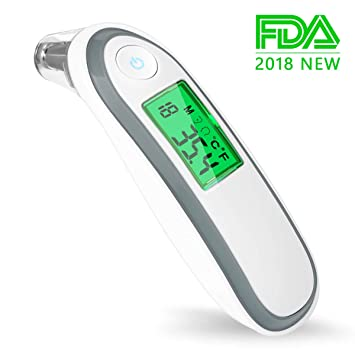 Baby Thermometer, Iotta New Generation Ear and Forehead Thermometer Infrared Digital Thermometer Suitable for Baby