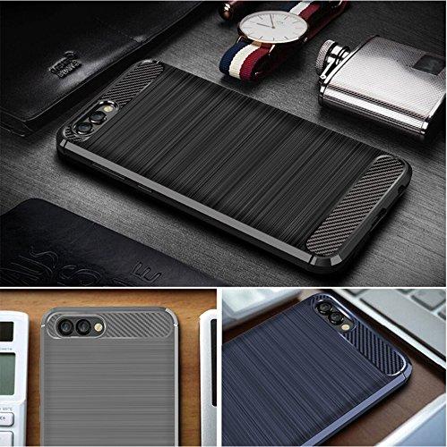 Funda Huawei Honor View 10,Funda Fibra de carbono Alta Calidad Anti-Rasguño y Resistente Huellas Dactilares Totalmente Protectora Caso de Cuero Cover Case Adecuado para el Huawei Honor View 10 B