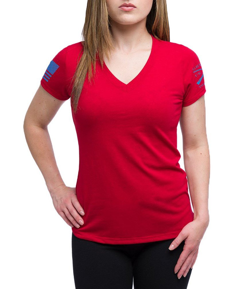 Grunt Style Ladies Yoga Shirt, Color Red, Size XXL