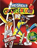 img - for the great cricket colour in: batting (cricket colouring books) book / textbook / text book