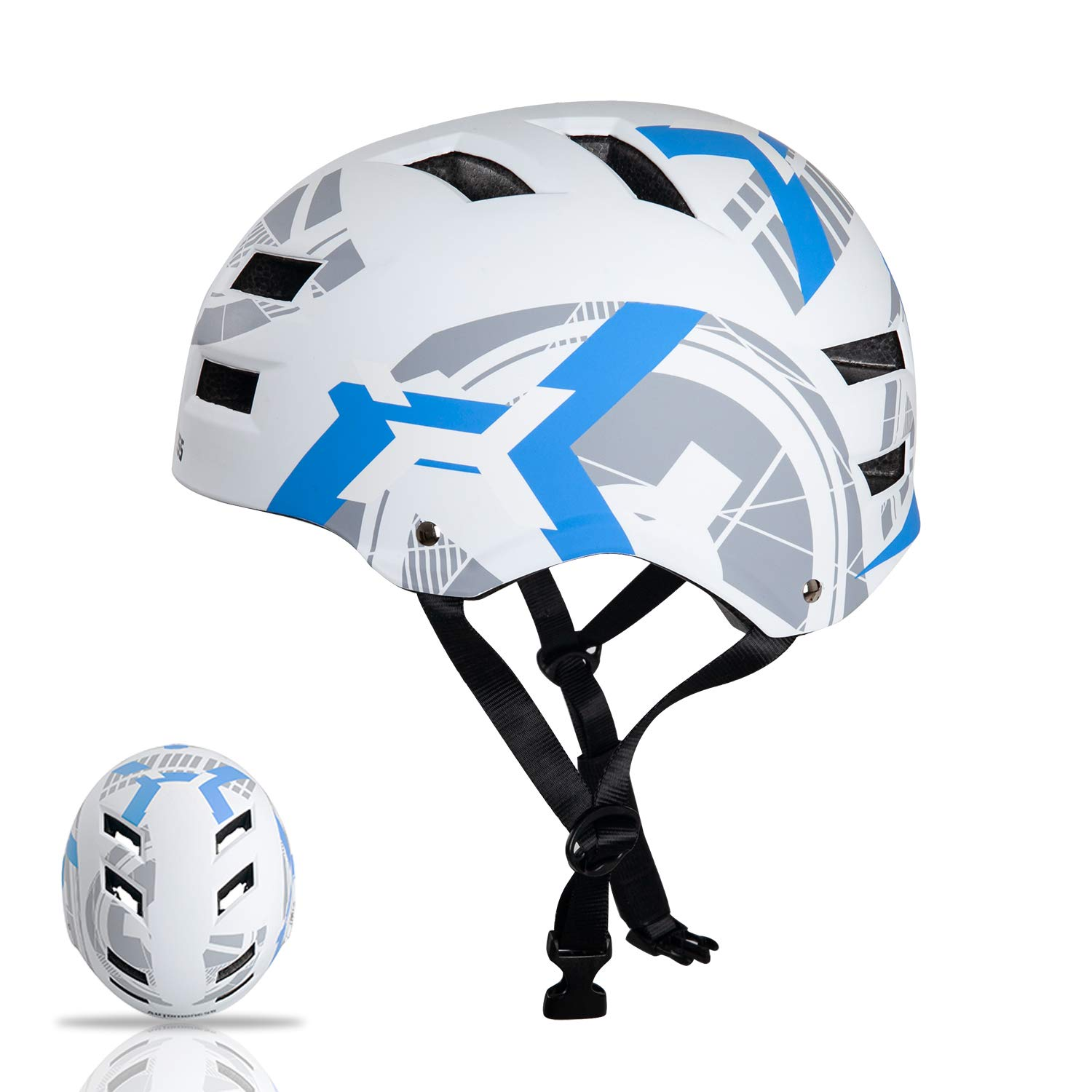 Automoness Skateboard Helmet for Kids Youth Adult, CPSC ASTM Certified Safety Skate Bike Helmet,Muti-Sport Helmet for Skating,Scooter,Bicycle,Roller,Inline,Longboard,3 Sizes