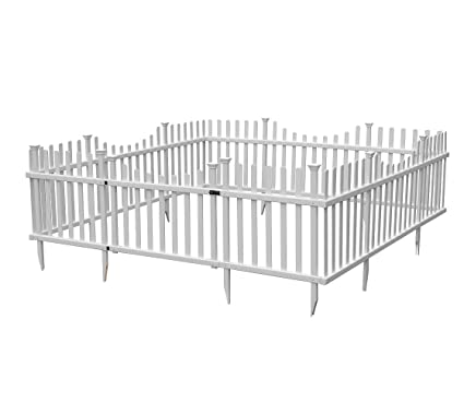 Ordinaire Zippity Outdoor Products Pet Or Garden Enclosure Vinyl Fence Kit With Gate,  94u0026quot; ...
