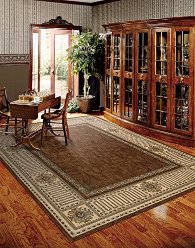 Nourison Vallencierre Brown Rectangle Area Rug, 9-Feet 9-Inches by 13-Feet 9-Inches 9 9 x 13 9