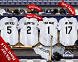 Colorado Rockies Team Locker Room Clubhouse Personlized Officially Licensed MLB Photo Print