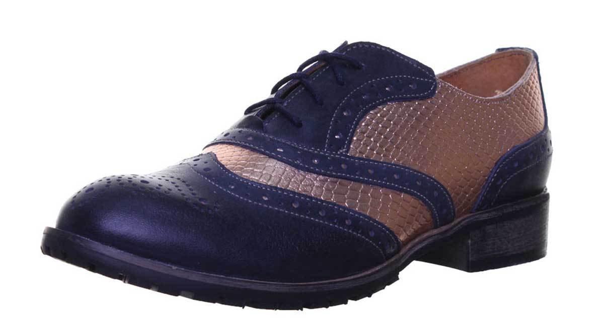 Justin Reece Agnes - Zapatos de cordones de Piel para mujer 36 EU|Navyrosegold