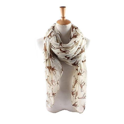 ctshow giraffe Print Voile Print Scarf Fashionable Women Scarves shawl