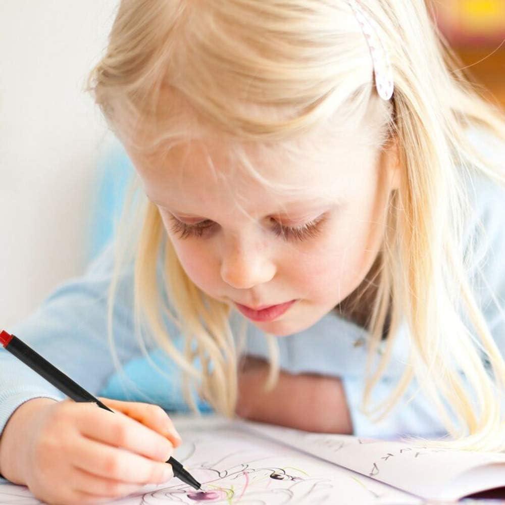 Disegno e Dettagli Vakki Penne Fineliner Penna a Punta Fine 24 colori 0,4 mm Penne Fineliner a Colori Assortiti per Colorare