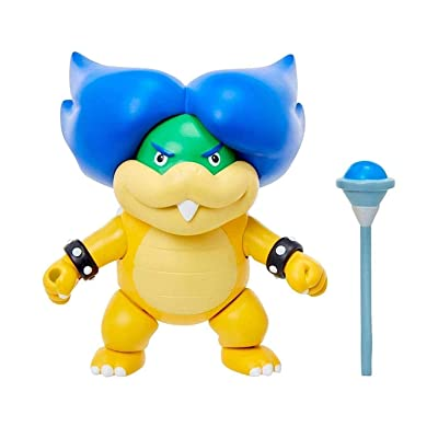 "Super Mario 4"" Ludwig Von Koopa Articulated Figure with Magic Wand Accessory: Clothing"