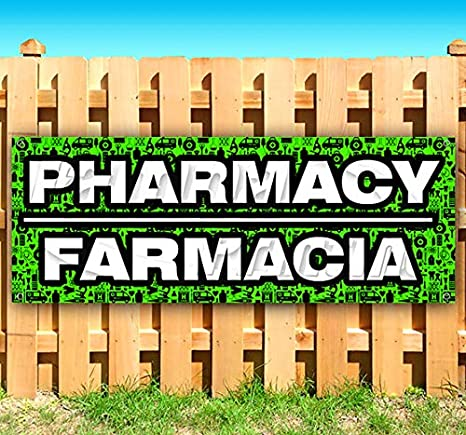 Amazon.com: Pharmacy FARMACIA - Cartel de vinilo resistente ...
