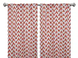 Pair of rod curtains 50'' wide panels gray orange natural zapp window treatment nursery cotton drapes 84 96 108