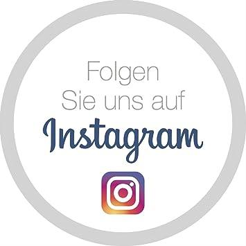 """Aufkleber - Sticker""""Folgen Sie uns auf Instagram"""": Amazon.de ..."""