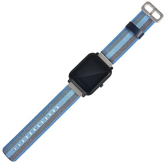 Wokee deportes nuevo reloj correa de nailon de repuesto para XIAOMI huami amazfit bip jóvenes reloj