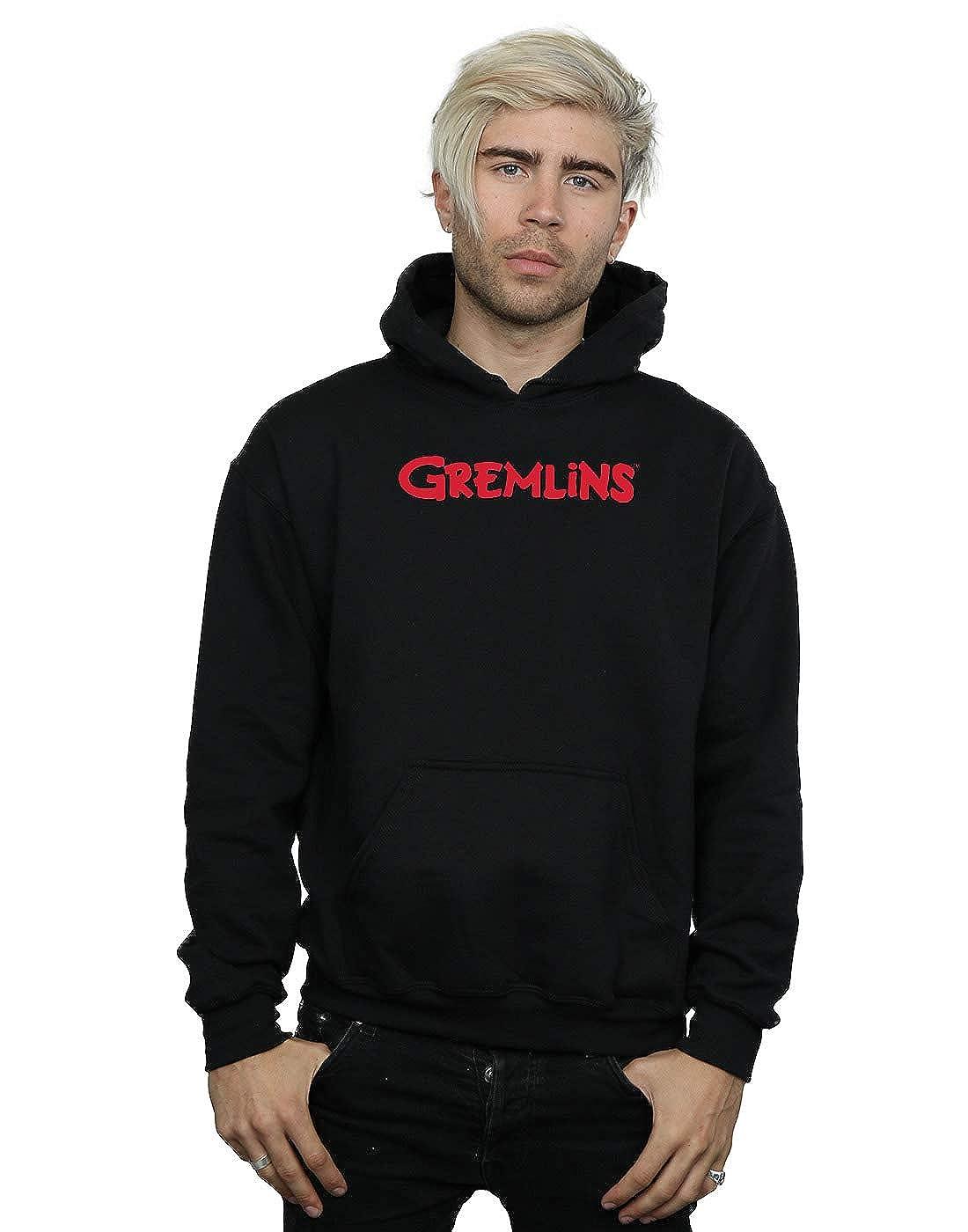Absolute Cult Gremlins Herren Text Logo Kapuzenpullover