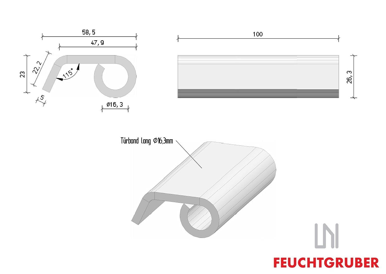 Anschweissband 14mm x 220mm Torangel T/ürband Scharnier Tor T/ür Konstruktionsband
