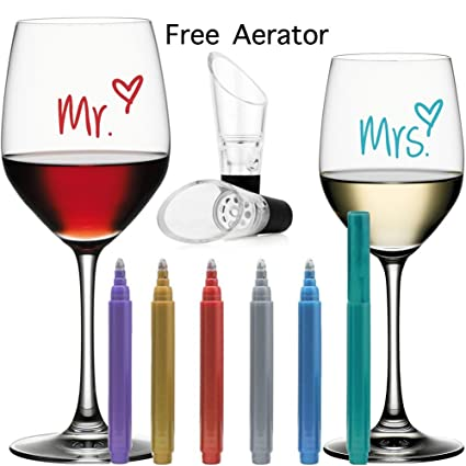 Wine Glass Marking Pens for Wine Glasses-Food Safe Non-Toxic Washable Markers  sc 1 st  Amazon.com & Amazon.com | Wine Glass Marking Pens for Wine Glasses-Food Safe Non ...