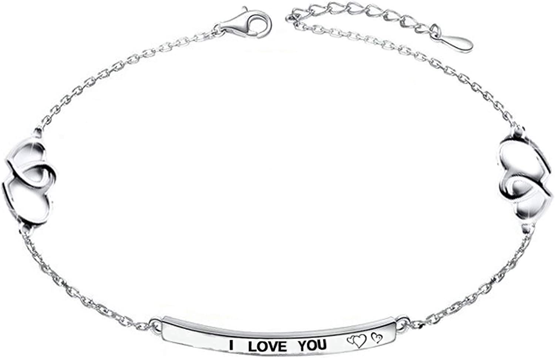 Peterpanshop Heart Shape Popular Anklet for Women 925 Sterling Silver Color Adjustable Foot Bracelet Vintage Jewelry