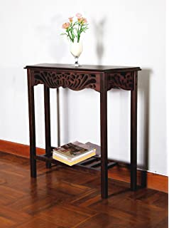 Superior D ART COLLECTION Serenity Entrance Wall Table, Dark Brown
