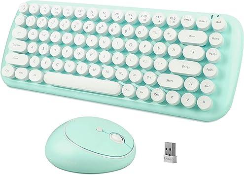 SADES Juego de teclado y ratón inalámbricos de 2.4 GHz con ...