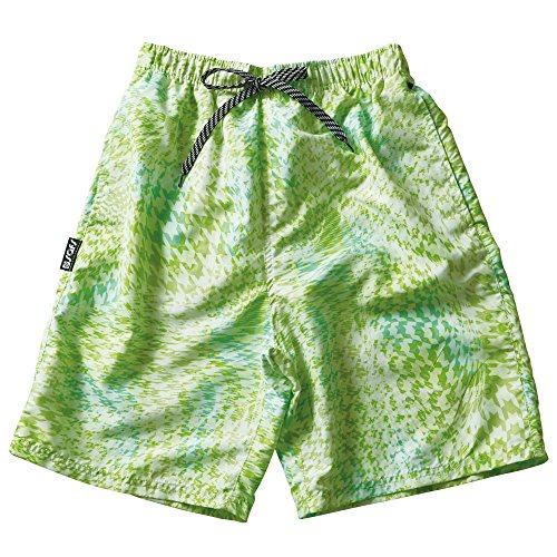 SAFS Men's Swim Trunks Shorts Hound's-tooth Check Green 30