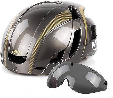 MAKE FINE Casco De Bicicleta con 3M Pegatinas Reflectantes Gafas ...