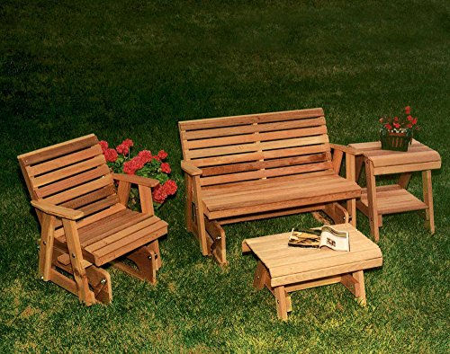 Cedar Rocking Classic Gliders and Tables (Cedar Glider Bench)