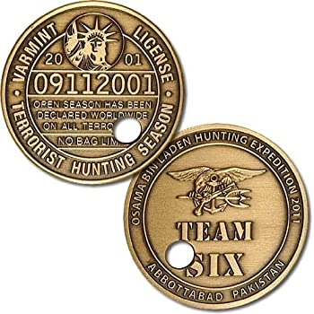 Northwest Territorial Mint Punched Ticket Osama bin Laden Challenge Coin