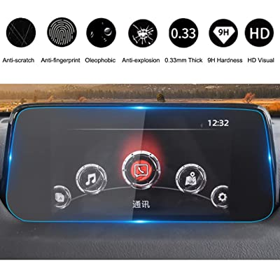 2020-2020 Compatible with Mazda CX-5 7 Inch MZD Connect Car Navigation Screen Protector, HiMoliwa Scratch-Resistant Ultra HD in-Dash Clear Tempered Glass Screen 9H Hardness 0.33mm: GPS & Navigation