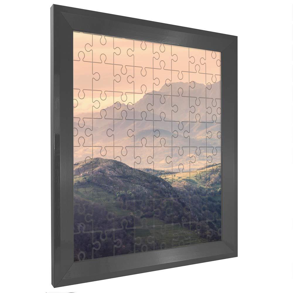 Bilderrahmen für Puzzle RIA 85x120cm Grau (Hochglanz) für ca. 3000-5000 Teile ANTIREFLEX