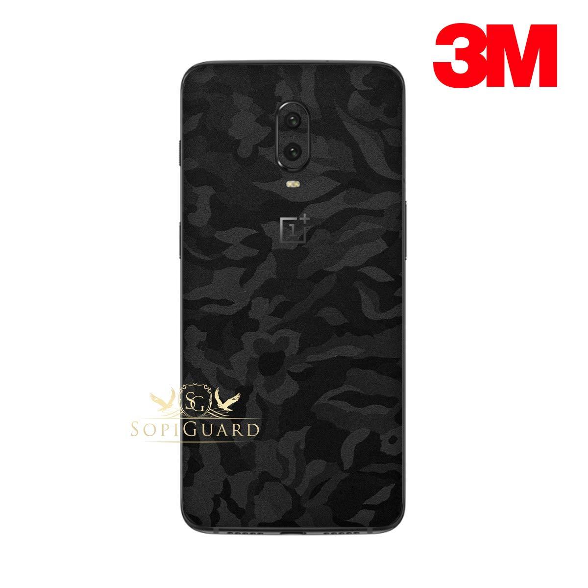 Skin Para Oneplus 6t 3m Black Camo