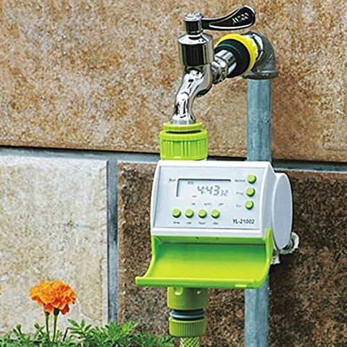 amzmonnsuta LCD自動散水タイマー 電池式 LCD デジタルタイマー 水やり灌漑 芝生鉢植え畑ガーデニング 用 スマートソレノイドバルブ 散水機タイマー B01LY9TTHU