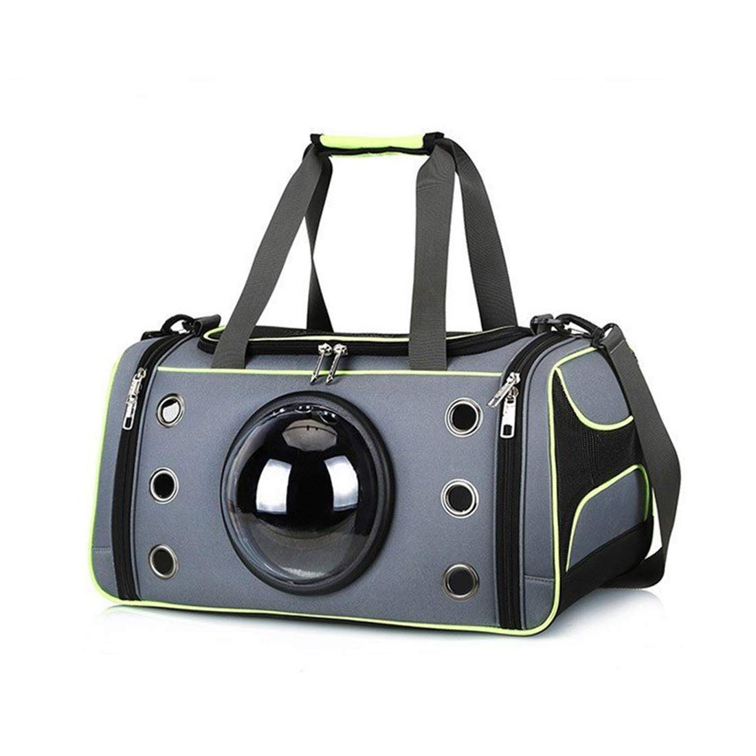 Fluorescent green L Fluorescent green L RABILTY Pet Bag Out Carrying Case Space Capsule Portable Bag Cat Handbag Breathable Dog Out Bag (color   Fluorescent Green, Size   L)