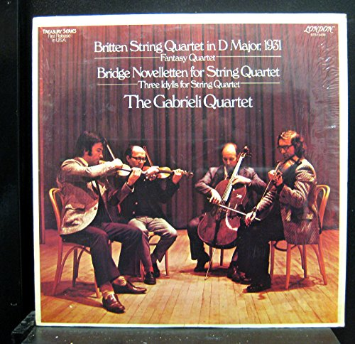Gabrieli String Quartet Britten & Bridge Novelletten Lp Vinyl Record (Sts String)