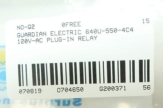 Guardian Electric 640U-550-4C4 Relay 120v-ac