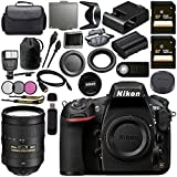 Nikon D810 DSLR Camera 1542 AF-S NIKKOR 28-300mm ED VR Lens + 128GB SDXC Card + 77mm 3 Piece Filter Kit + Universal Slave Flash unit + Mini HDMI Cable + Carrying Case Bundle