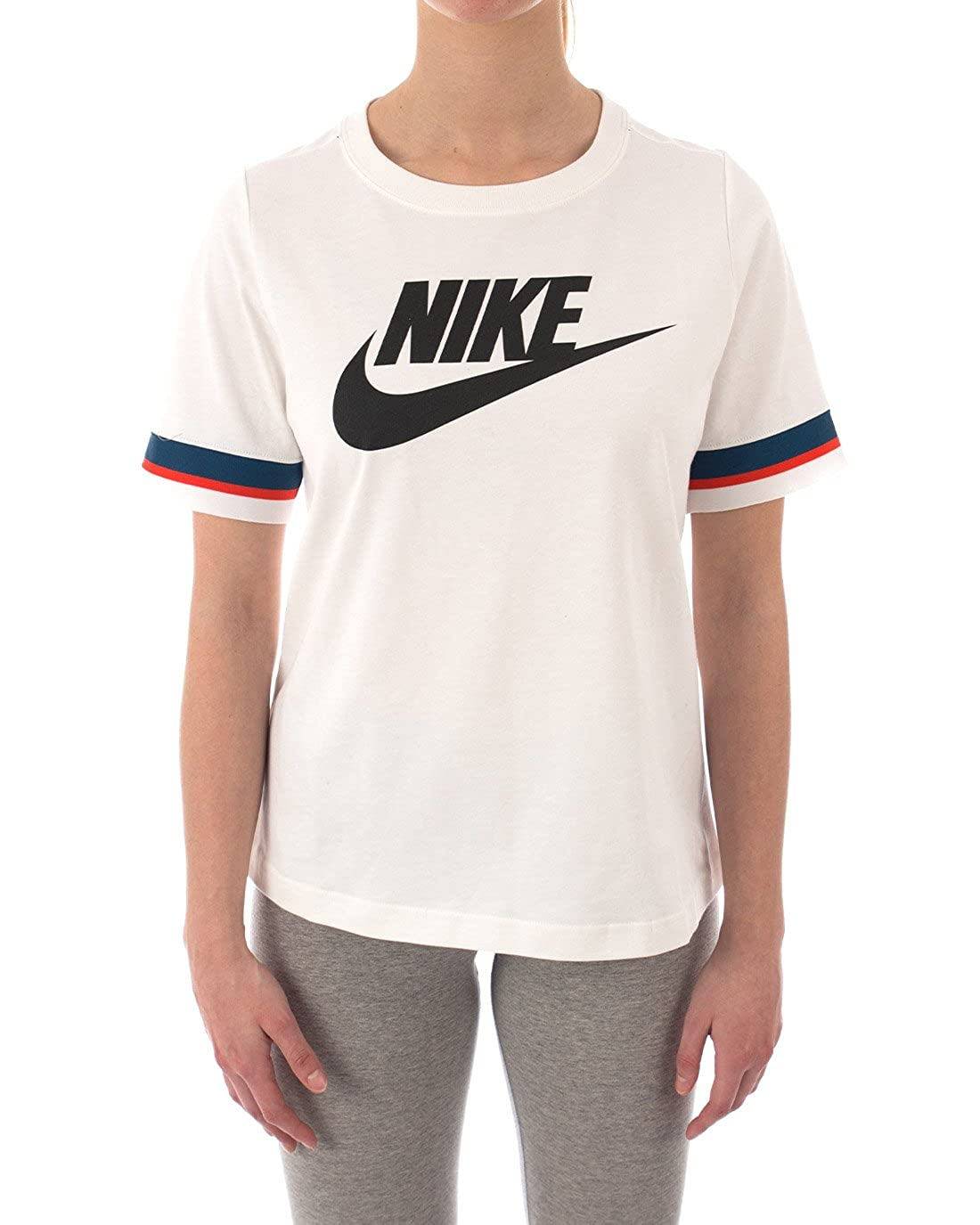d9b7f19a Nike Womens 100% Cotton Logo Fitness T-Shirt, Ivory, X-Large at ...