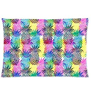 LarryToliver You deserve to have one side printing pillowcase Colorful Pineapple Art size 20 X 30 inch 2 way cloth best pillow cases