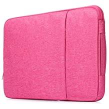YiYiNoe Professional Sleeve Case for 13 inch Macbook Soft Slim Laptop Cover Bag for Mac Air 13,Pro 13,Pro 13 with Retina Display Hot Pink