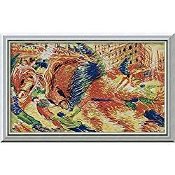 Canvas Art Framed 'The City Rises 1910-11' by Umberto Boccioni